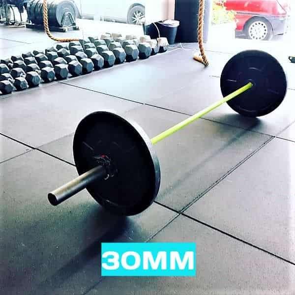Flatline 30mm black rubber flooring