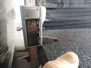 thickness measurement rubber gym flooring tiles flooringfitness