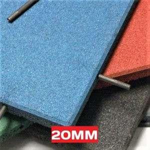 SBR rubber tiles 20mm floor4play